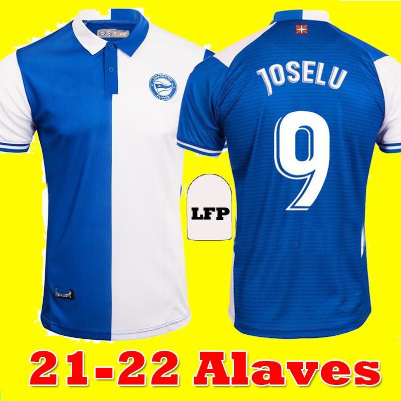 2021 2022 Deportivo Alaves Soccer Jerseys Home Joselu 21 22 Camisetas de fútbol Alavés Edgar L.RIOJA WAKASO PERE LUCAS GUIDETTI Camisetas de fútbol