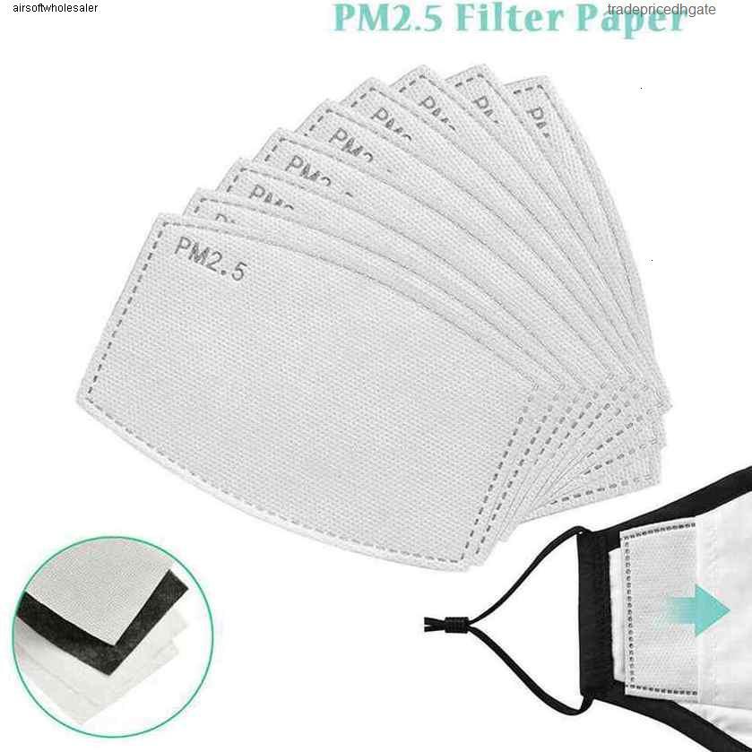 Взрослый 5 одноразовые слои Pads Вставка Фильтр Детский коврик Активированные углеродистые маски Сменные фильтры PM2.5 Маска Pad ZZA2087 1000PSSLKEE