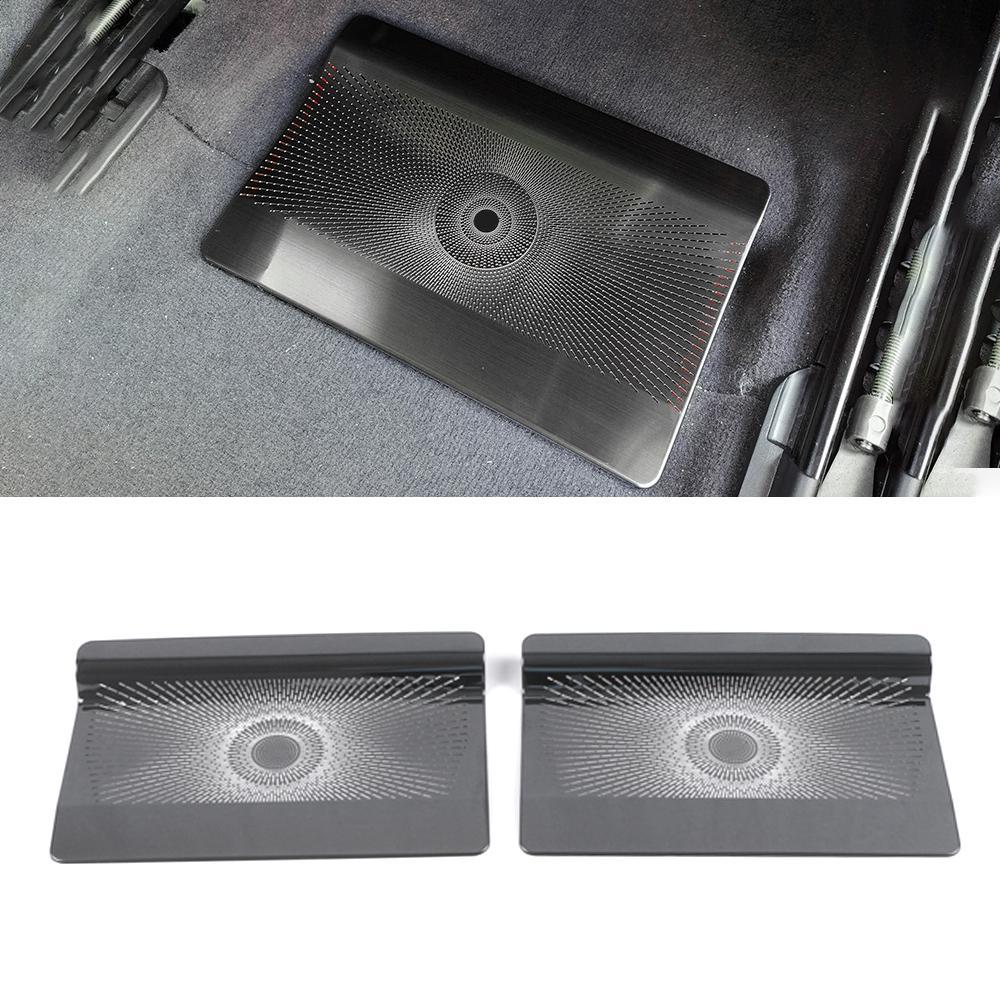 Pour Mercedes-Benz GLE W167 2019-2021 Haut-parleur de voiture Couverture de la porte en acier inoxydable haut-parleur Sound Cadre Cadre Sticker ACCESSOIRES INTÉRIEUR