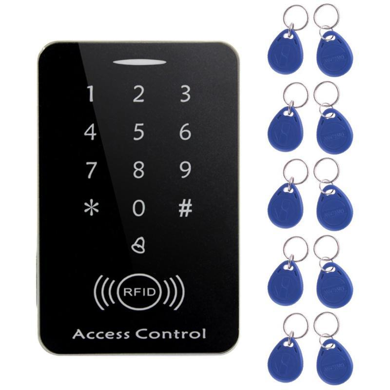 Fingerprint Access Control M203SE RFID Standalone Touch Screen Card Reader With Digital Keypad 10pcs Keys For Home