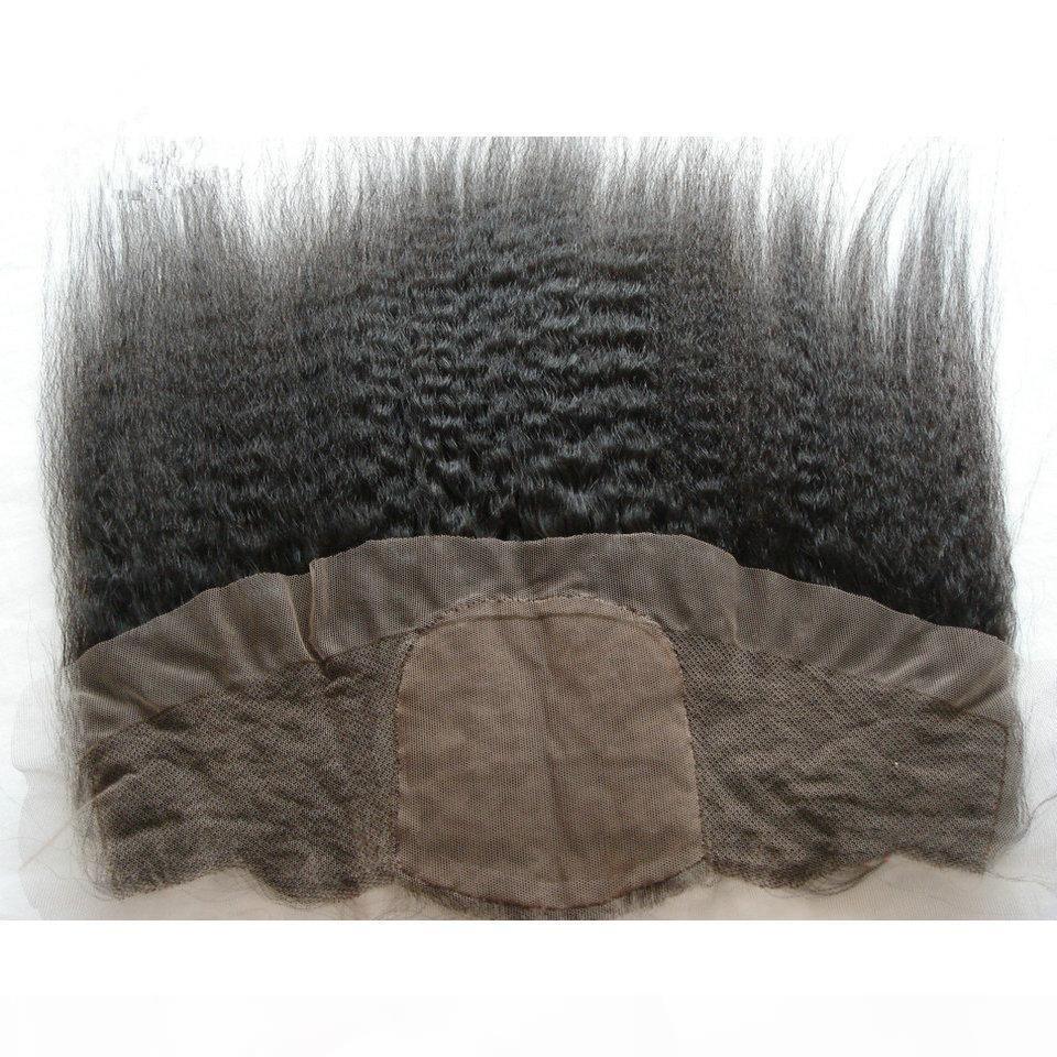 변태 스트레이트 실크베이스 레이스 정면 13x4 표백 된 매듭 이탈리아 거친 야키 말레이시아 인간의 머리카락 실크 탑 레이스 정면 클로저