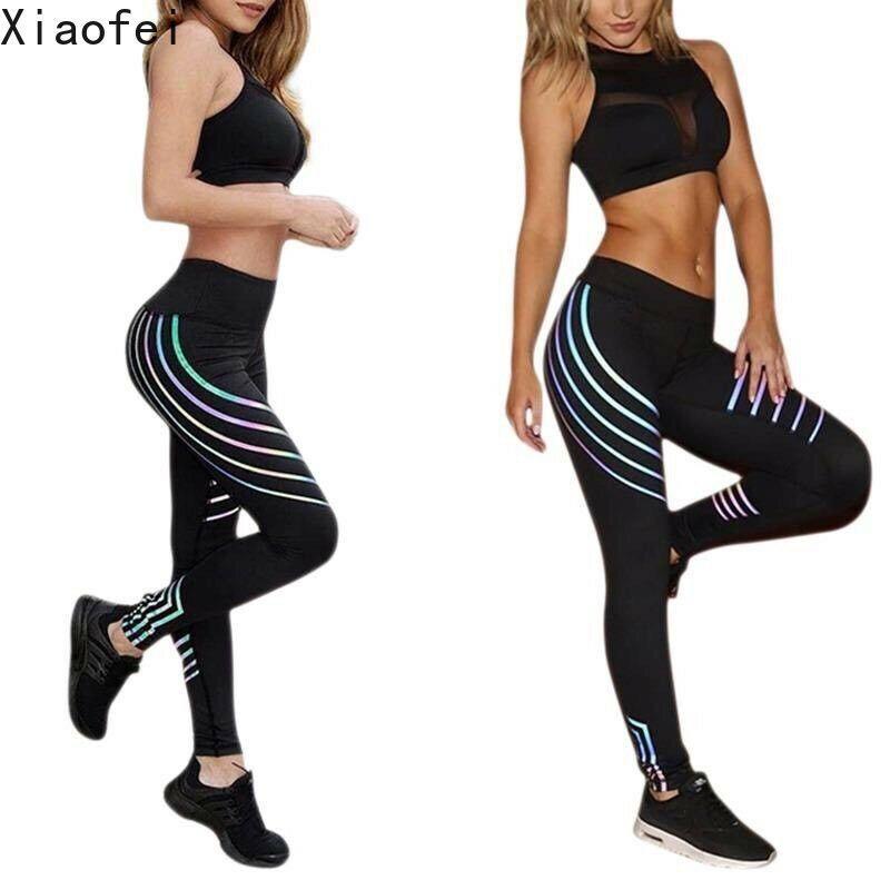 الزي إمرأة طماق عاكس اللياقة البدنية الجري رياضة الرياضة اليوغا السراويل تمتد القصص