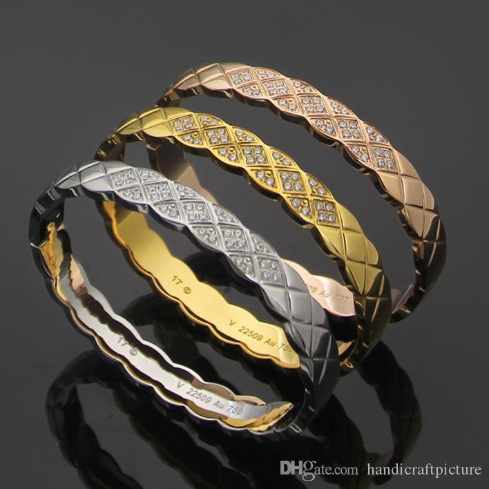 Vendi gioielli moda signora personalità nastro diamante braccialetto diamante diamante braccialetto di design del braccialetto di moda