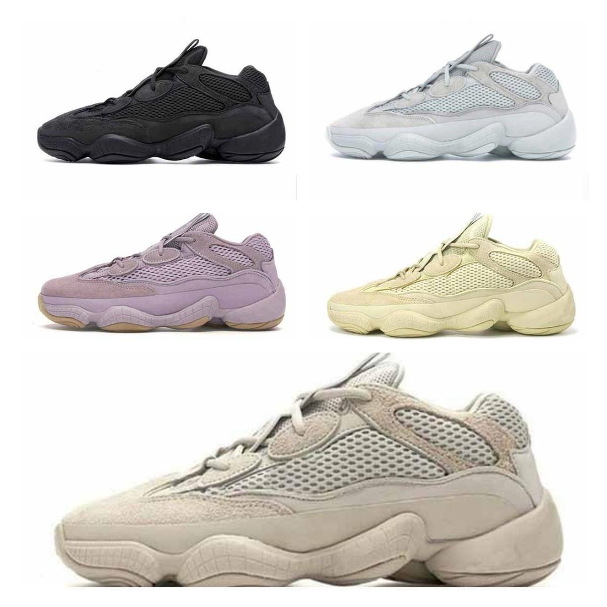 Adidas Yeezy Boost 500 shoes [شحنها في غضون 6 أيام] الصحراء الفئران 500 الرؤية العظام الأبيض الاحذية رجل إمرأة القمر الأصفر كاني ويست الرياضة أحذية رياضية الأحذية 9 #