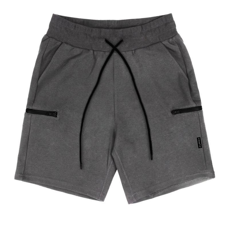 Männer Shorts Herren Sommer Casual Männer Jogger Training Kurze Hosen mit Reißverschlusspaketen
