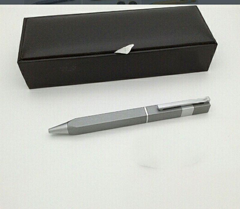 2021 Lápiz de lujo antiguo de 4 caras Signature Pens Classic Marca Metal Texture Business Luxury-Pen con caja