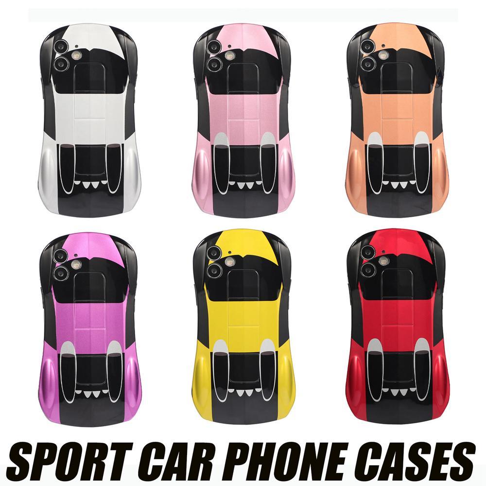 Cool لطيف الرياضة سيارة حالة الحالات الهاتف لفون 13 12 11 برو ماكس XR XS 13mini iPhone7 8 زائد 360 أغطية حماية كاملة