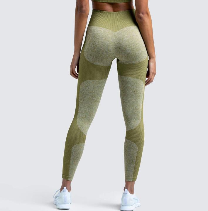 17Color yoga calças mulheres ginásio leggings sexo feminino sexy alta cintura treino justas jogging wear mulheres sem costura leggings esportes calça yj002 ottie