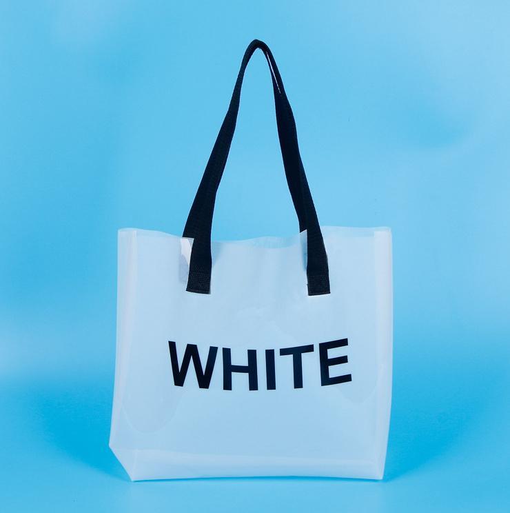 HBPPVC Amigável-Friendly Embalagem Saco Transparente Sacola De Plástico Branco Saco de Compras da Celebridade da Web