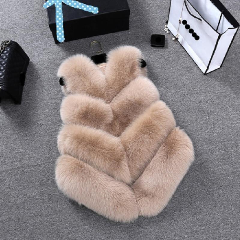 FAIS Vêtements de dessus de la fourrure Femme pour dames manteau de mode avec une surcelle FAULE FAUX FUR Gilet Furry Vestes de vêtements pour femmes 210222