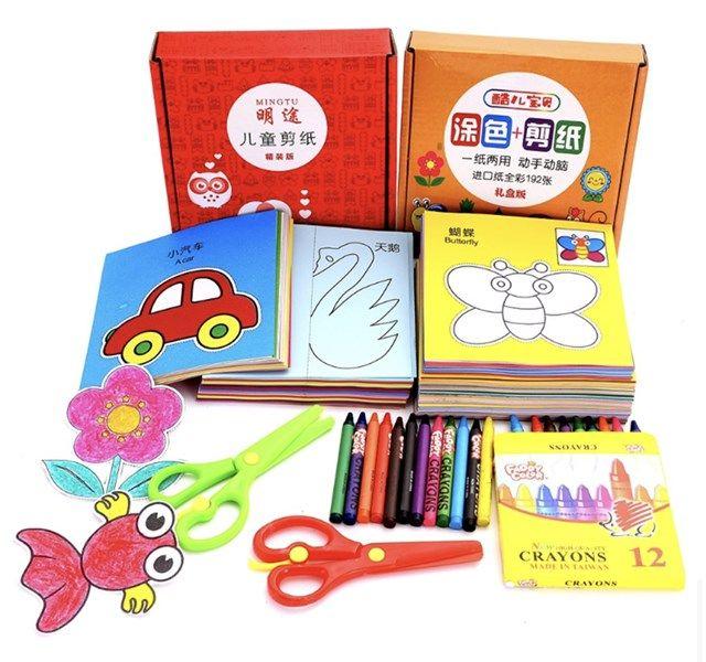 192 кусочки раскраски и покраски книги для рук для младенцев и маленьких детей оптом ручной работы складной бумаги детский сад DIY240
