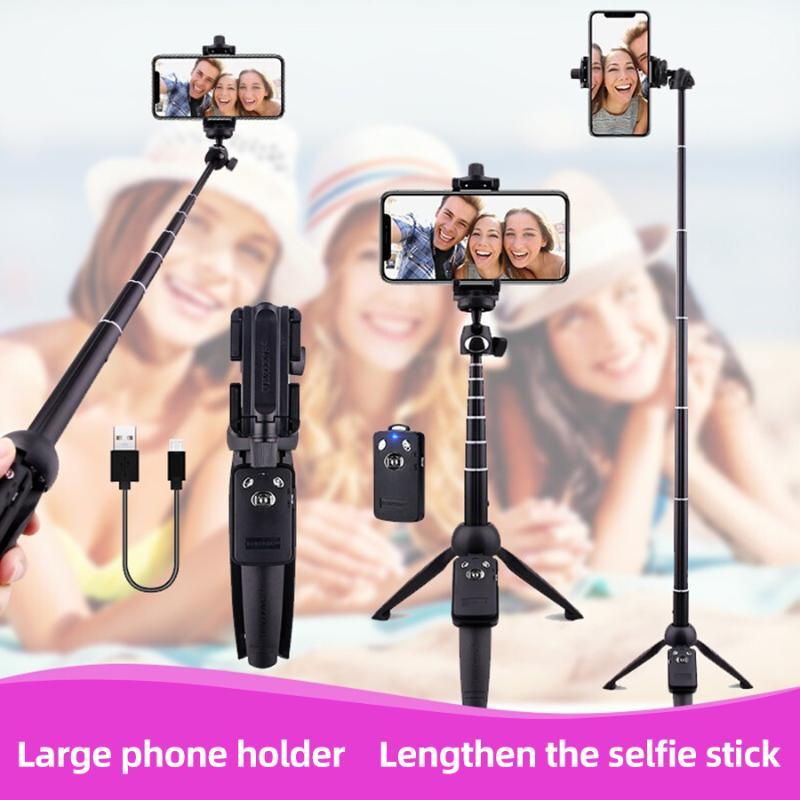 MAMEN Multifunctional Mini Mobile Phone Tripod + Selfie Stick with Tripod Remote Control for Live Broadcast Selfies