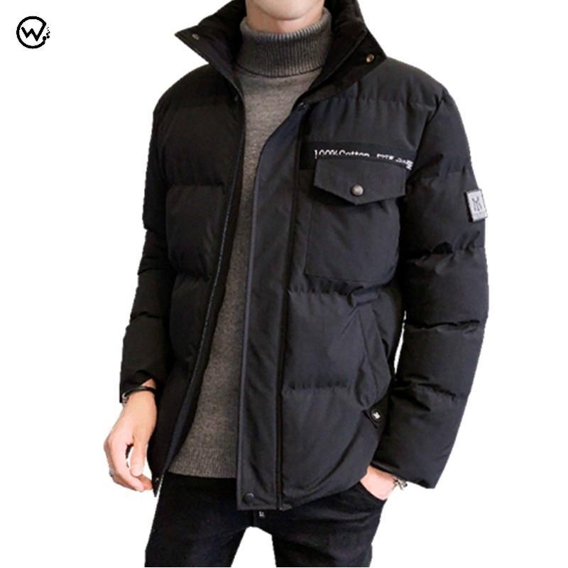 Nouvelle arrivée Hiver Parka Veste Hommes Épaissir Couvertures chaudes Collier Coton Coton Padded Male Overcoats Marque Vêtements M-4XL ROPA 210222