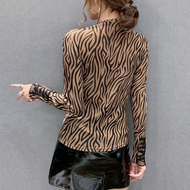 2021 Новая осень зима европейская одежда футболка мода сексуальная лоскутная сетка блестящие димансы письма женские топы ропа Mujer Tees T09802L AD17