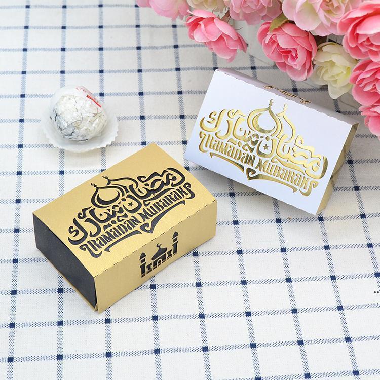 Лазерный нарезанный Рамадан Мубарак Permen Favors Box для Ramadan Eid Party Bed5132