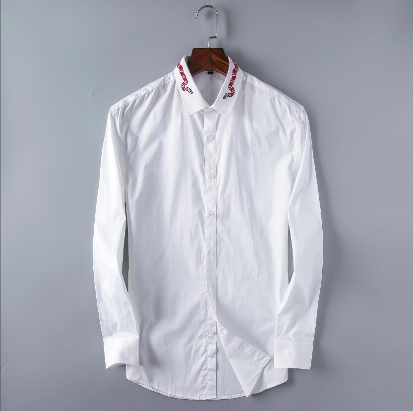 2021 Business Business Shirt Hommes Hommes à manches longues Slim Slim Fit Masculina Social Homme T-shirts Nouveau Mode Homme Vérifié 6602 Chemise