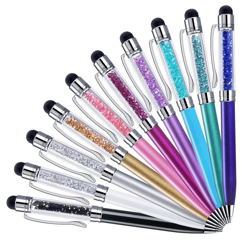 2 in 1 stylus touch stift luxus diamant capacitve breaking birse für iphone 6 7 8 x samsung tablet pc