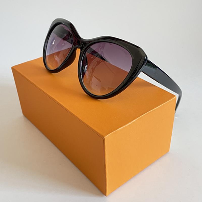 Óculos de sol de designer de luxo para mulheres grandes quadro Óculos uv proteção óculos retrô 5 cores com caixa