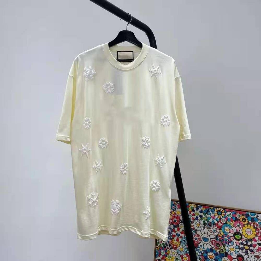 21ss أوائل الربيع قصيرة الأكمام المحملة الرجال النساء عالية الشارع الأزياء قصيرة الأكمام القمصان الصيف تنفس تنفس tee ZDLG20308.