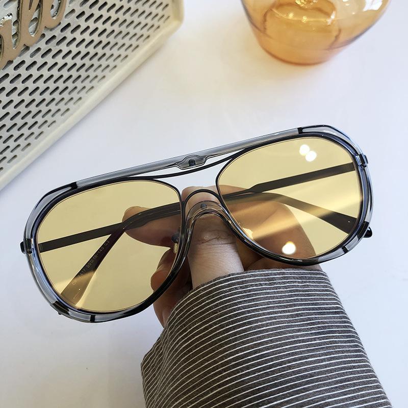 Occhiali da sole Versione coreana della loro marea grande telaio protezione occhio occhiali da vista retrò faccia sottile moda signore moda