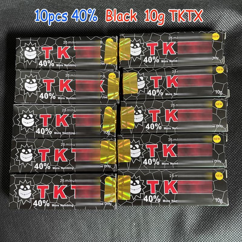 Yeni 10g TKTX Dövme Krem 10 adet Siyah 40% Orijinal Kalıcı Piercing Önce Makyaj Mikroblading Kaş Dudaklar Vücut Cilt