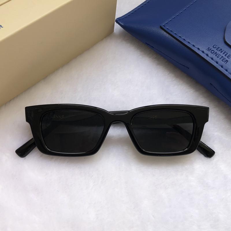 2021 한국 스타 제니 협력 GM 선글라스 젠틀 홈 패션 여성 우아한 선글라스 레이디 작은 프레임 태양 안경 1996