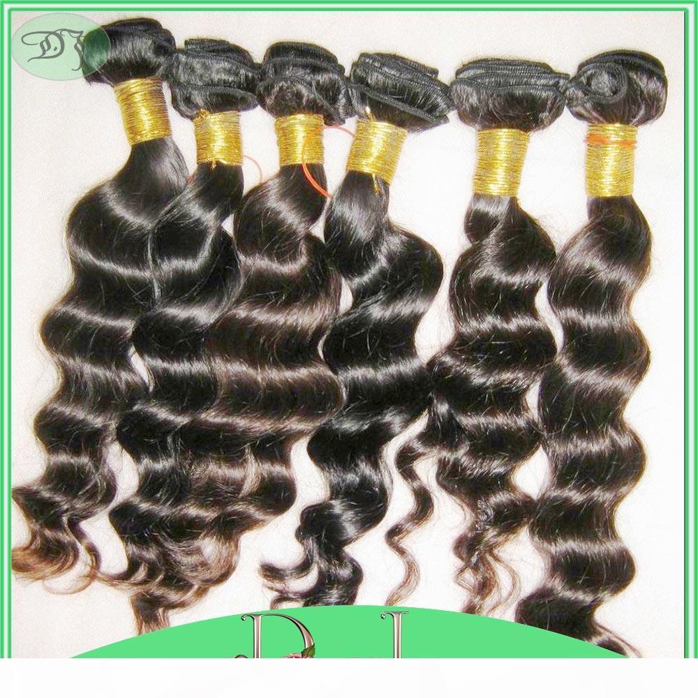 Qualité incroyable 7A sans trafic d'une vague lâche bundles péruviennes Human Hairs 4pcs lot prix bon marché livraison rapide