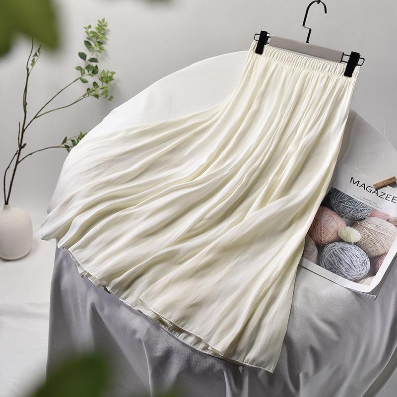 2021 Женщины чище чечеловеческие кружевные крючком медленнее подол лето высокая талия Falda Femme Jupe юбка PAL9