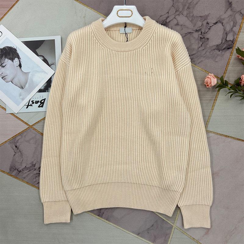 Bege em torno do pescoço pequeno suéter fragrância de malha lã 2021 inverno novo estilo preguiçoso