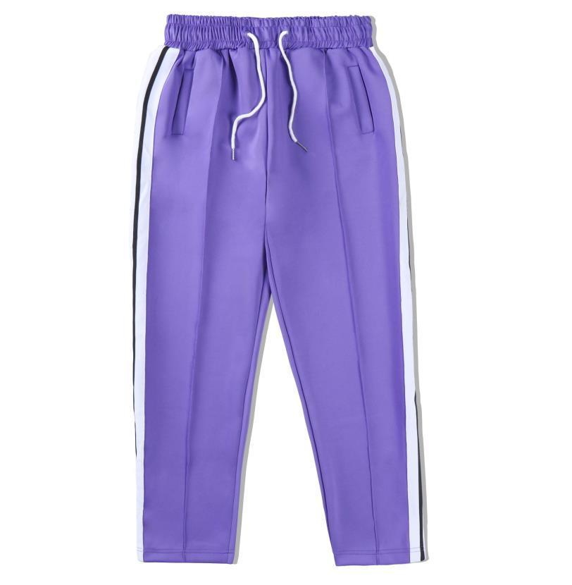 Hommes actifs Slim Classic Track Pantalon Polyester Designer Femmes Élastiquées Lettre de ceinture Élastiquée Pantalon long Pantalon long