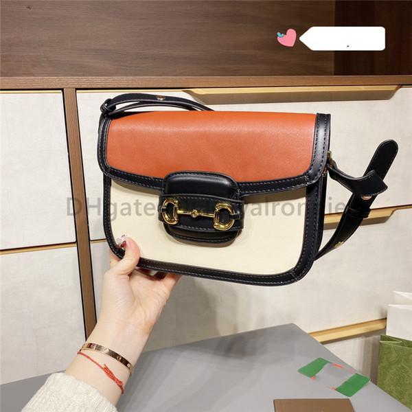 Classic Luxurys Designers Sacos Senhora Moda G 1955 Crossbody Bag Alta Qualidade Bolsas Bolsas 2021 New Two-Tone Mulheres Sacos de Embreagem