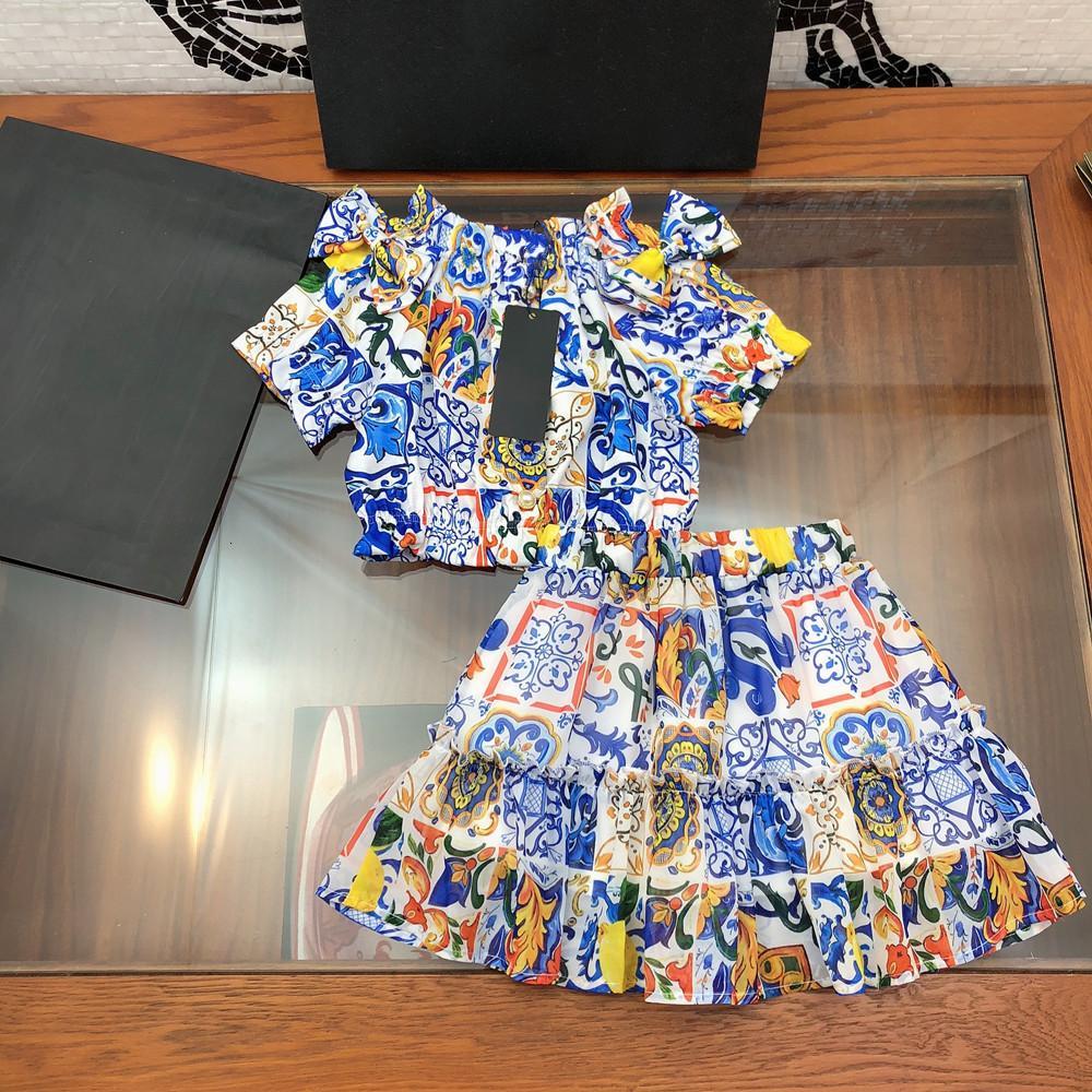 Desginer Baby Clothing3 ملابس الأطفال ارتداء 4 فستان بناتي 5 الصيف دعوى الأميرة تنورة 6 النمط الأجنبي اللباس الفتاة البالغة من العمر 8 سنوات 2-