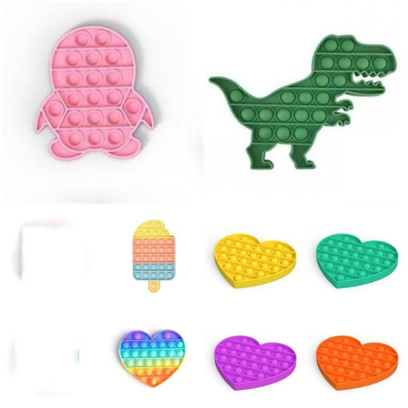 Glühende Push-Blase Zappeln Spielzeug-Party Favor Pop Autismus Sonderanforderungen Stress-Reliever Hilft, Fokus-weiche Squeeze-Spielzeug 472 Z2 zu erhöhen
