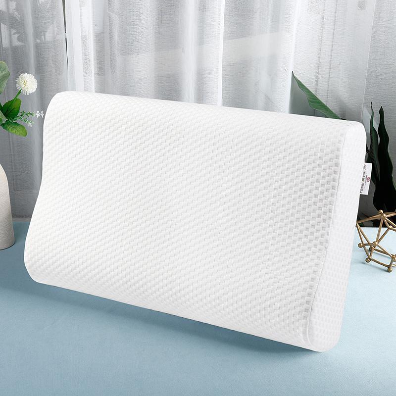 베개 능력 자연 침대 베개 느린 리바운드 메모리 거품 화이트 짠 패턴 웨이브 60x35x9cm