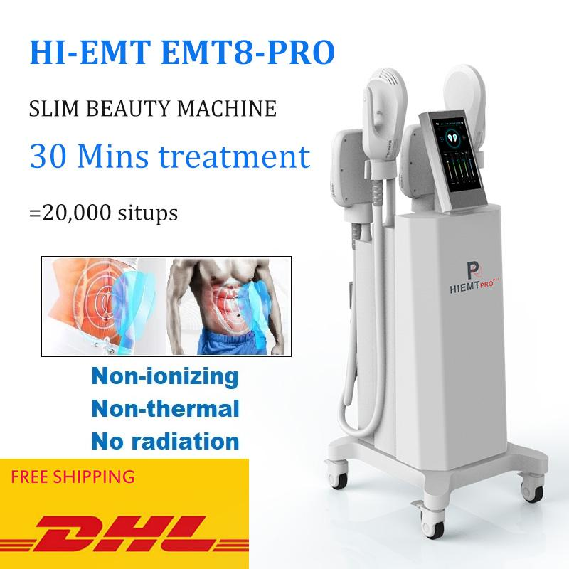 New Emslim Hi-EMT Machine EMS Электромагнитная мышца Стимуляция Живообразной формировании Hiemt Beauty Оборудование