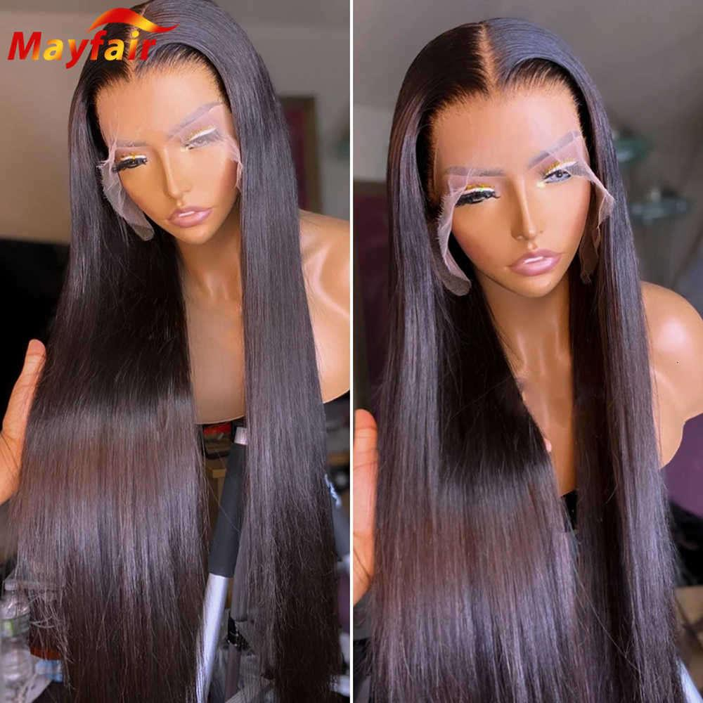 wigs Pre plucked Lacefront Bone Straight Human hair Wigs 28 30 Inch Lace Front 13X4 Frontal 4X4 closure Prune with Baby