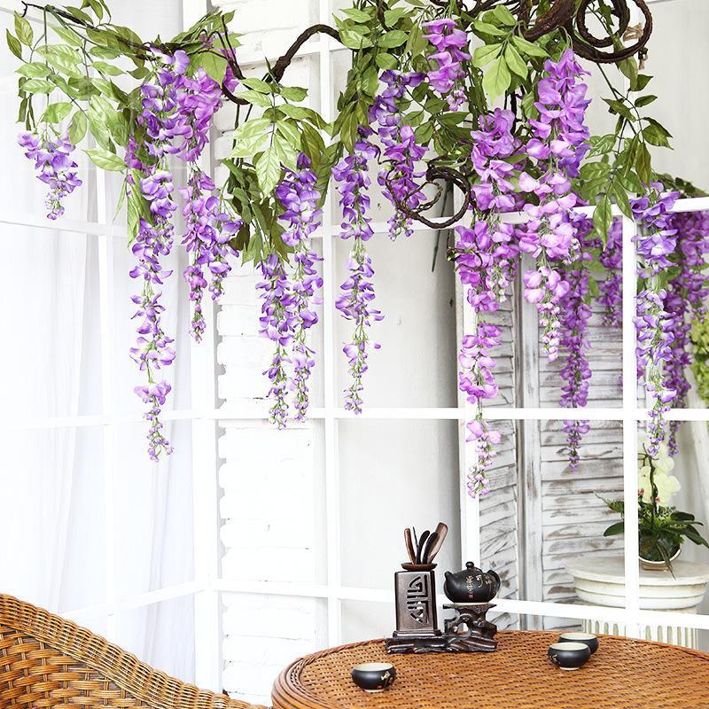 Decorative Flowers & Wreaths Eqianao Fake Plant Il(origin) Monstera Artifici 12pcs Home Decoretion Cn(origin)greeneri Wall De(origin) Cleara