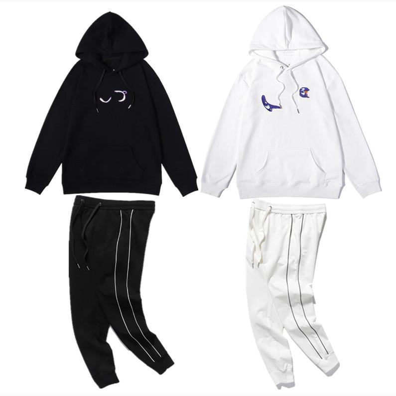 001 고급스러운 남자와 여성의 후드 고품질 자수 기술 브랜드 럭셔리 디자이너 까마귀 스포츠웨어 스웨터 패션 트랙 슈트 레저 자켓