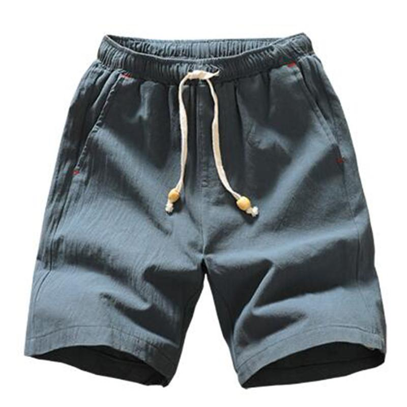 Summer Style Style Shorts Uomo New Casual Beach Shorts Cotton Solid Coulisse in Pantaloncini Bermuda Shorts Uomo Plus Size 4XL 5XL 210302