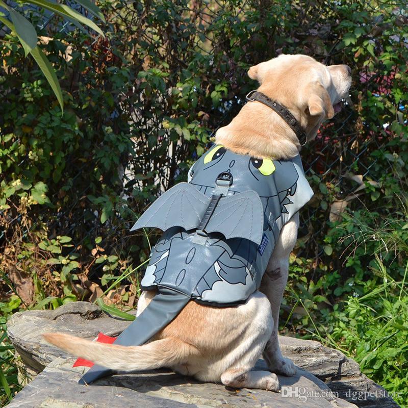 جديد تصميم الكلب الحياة سترة ripstop الحيوانات الأليفة تعويم سترة التوقف المايوه preserver لسلامة المياه في حمام السباحة شاطئ القوارب pterosaur