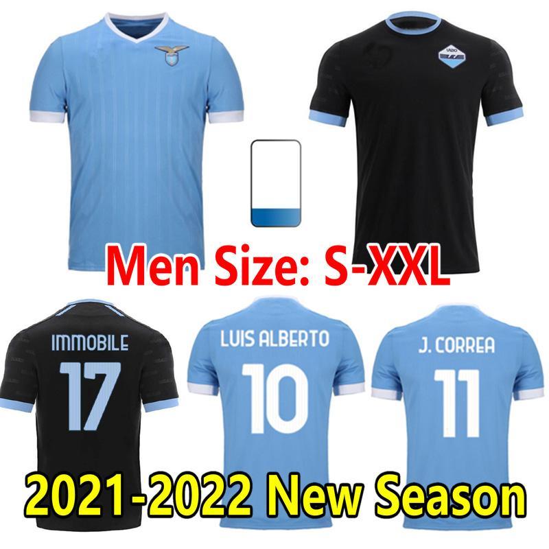 2021 2022 Lazio Soccer Jerseys Luis Alberto Incobile Sergej Pedro Da Calcio Maglia J.Correa Lucas Bastos Men Kids Kits Onlyss كرة القدم قميص 21/22 الصفحة الرئيسية الثالثة