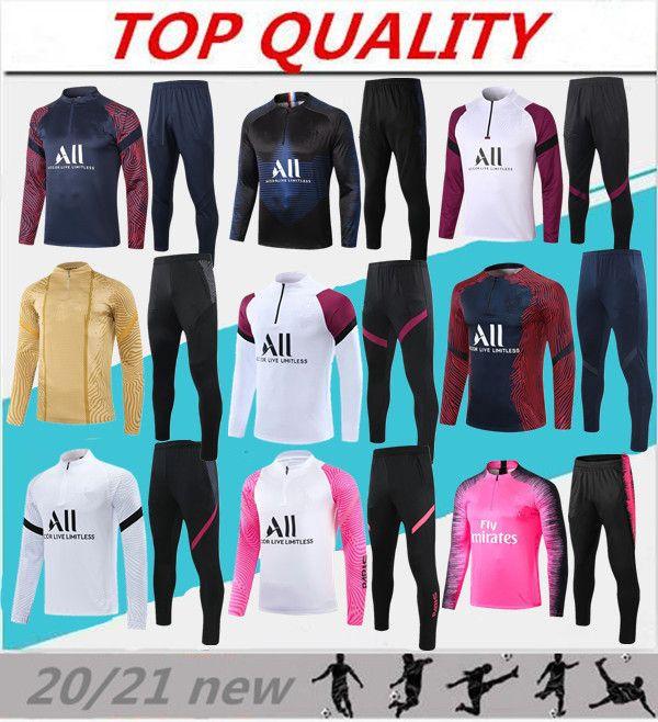 2020 2021 Fussball Training Anzug Mbappe Langarm Sweatshirt 20/21 Maillot de Foot di Maria Verratt Football Jogging Jacket Trainingsanzug
