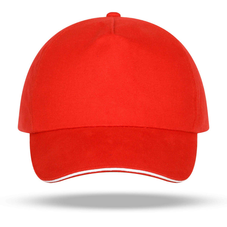 Custom Volunteer Publicidade Red Working Cap, Feito Beisebol Cap DIY Impressão Bordado
