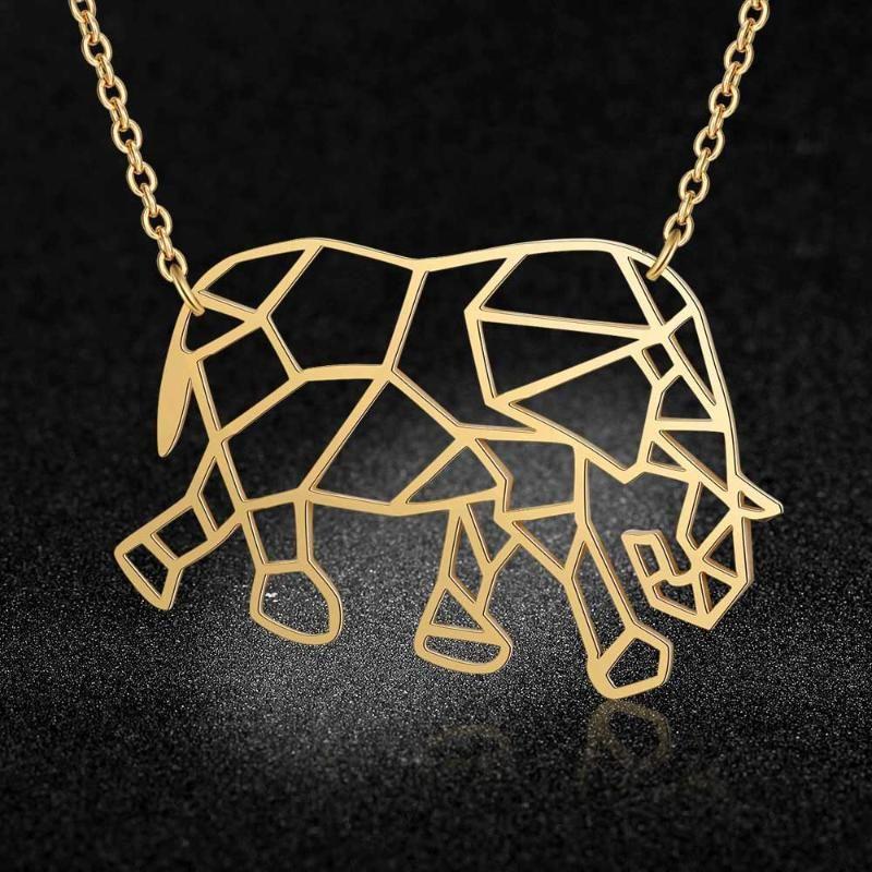 Anhänger Halsketten Einzigartige Elefant Halskette LavixMia Italien Design 100% Edelstahl Für Frauen Super Modeschmuck Spezielles Geschenk