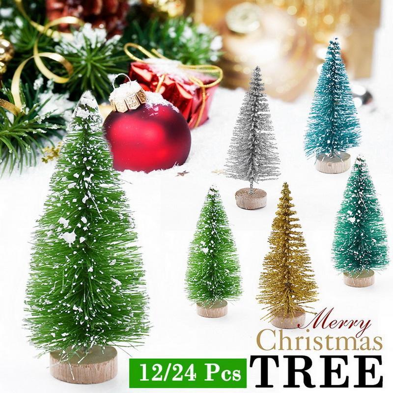Noel süslemeleri mini ağaç kar çam