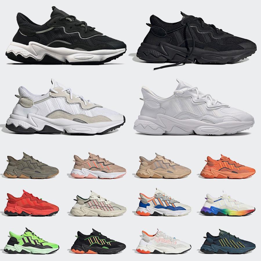 Klasik ADidler Ucuz Gurur Yansıtıcı Xeno Ozweego Erkekler Kadınlar Için Rahat Ayakkabılar Neon Yeşil Çağ Paketi Trainer Retro Sneakers Chaussures 36-45