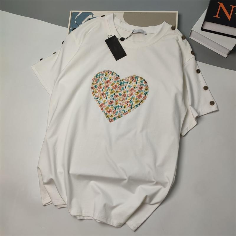 Дизайнер Новая хлопковая футболка с таким же стилем для мужчин и женщин All-Match Fashion0962