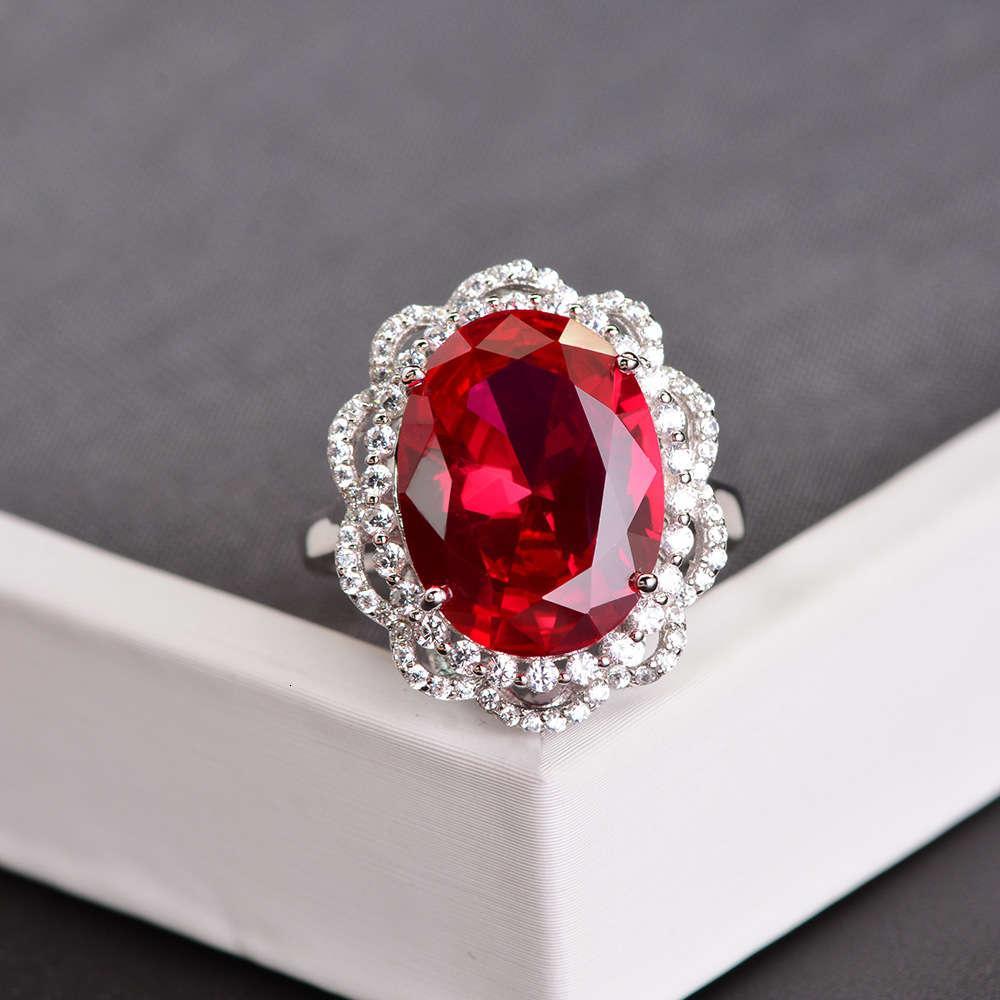 Moda de moda HBP, lujo, rupia ovalada para abrir la decoración de la mano del anillo