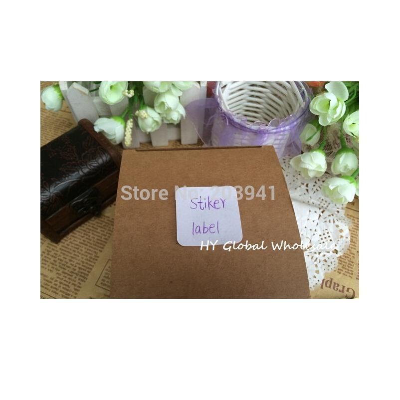 100pcs/lot New White Colour Square White Blank Seal Sticker Design Kraft Sealing Sticker Diy Gift Packa jllvFA
