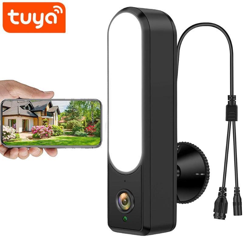 Cameras Tuya WiFi Fotocamera Telecamera 1080P Sicurezza wireless Surveillanza per esterni Surveillanza IP con luci a LED Telecomando